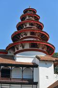 nepali traditional architecture in kathmandu - stock photo