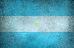 Grunge flag of Argentina Stock Illustration