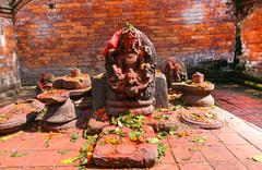 Stock Photo of sculpture of shiva in pashupatinath, nepal