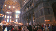 The spacious of the famous of Hagia Sophia Mosque in Istanbul, Turkey. - stock footage
