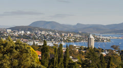 hobart tas pan - stock footage