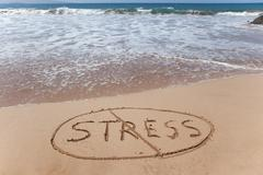 Stock Photo of No stress - stress relief symbol