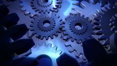 Working gears 3d Stock Footage