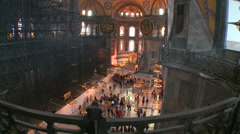 The spacious of the famouns of Hagia Sophia Mosque in Istanbul, Turkey. - stock footage