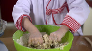 Stock Video Footage of Young boy showing his hands after kneading dough