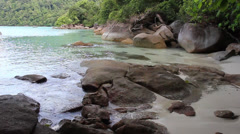 Beach Cove, rocks, Surin Islands - stock footage