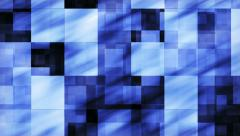 Abstract Blue Squares background - loop, HD 1080p. Stock Footage