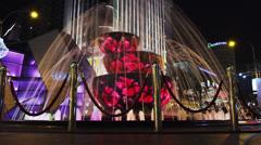 Fountain Night, Kuala Lumpur - stock footage