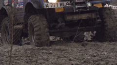 International competition in autocross - SUV in the Mud Stock Footage