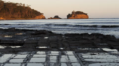 tessellated pavement tasmania - stock footage