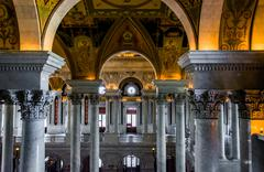 The interior of the library of congress, washington, dc. Stock Photos