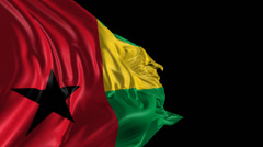Flag of Guinea Bissau Stock Footage