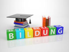 bildung - series words out of letterdices - stock illustration