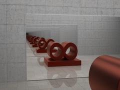 infinite mirror - stock illustration
