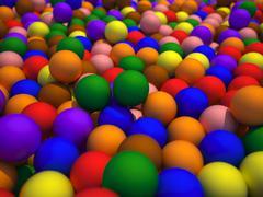 Coloured spheres Stock Illustration