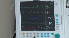 Anaesthesia / Heartbeat / Blood Pressure Monitor  Stock Footage