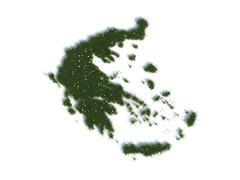 Map of greece series countries out of realistic grass Stock Illustration