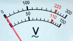 old analog voltmeter, FULL HD.  - stock footage