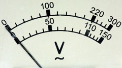 Old analog voltmeter, FULL HD.  Stock Footage