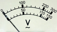 Stock Video Footage of old analog voltmeter, FULL HD.