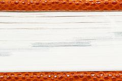 Notepad of artificial red snakeskin Stock Photos