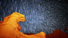 6K Startrails Canyon 06 Timelapse Astrophotography Mojave Desert Stock Footage