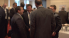 Back view of businessmen talking - slow motion (2 of 3) Stock Footage