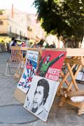 revolutionary posters for sale in havana - stock photo
