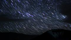 4K Startrails Canyon 08 Timelapse Astrophotography Mojave Desert Stock Footage
