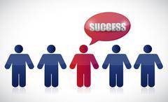 success people row. illustration design - stock illustration