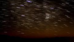 4K Startrails Canyon 10 Timelapse Astrophotography Mojave Desert Stock Footage