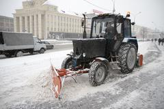 Machine for snow removal Stock Photos