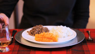 Stock Video Footage of Toast To The Haggis