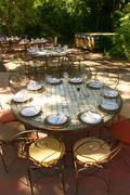 Banquet table in south afrika Stock Photos