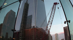 One World Trade Center in New York under construction. Stock Footage