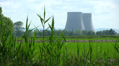 Nuclear Power Station in rural area - HD1080i Stock Footage