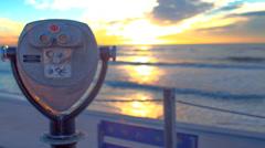 sunset overlook - stock footage