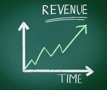 Revenue chalkboard Stock Illustration