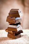 Staple chocolate tower Stock Photos