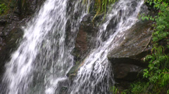 Close view of a small Waterfall in the woods - HD1080i Stock Footage