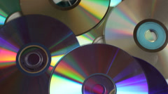 Old CD / DVD - stock footage