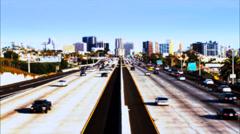 san diego 5 freeway - stock footage