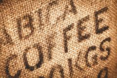 hessian coffee background - stock photo
