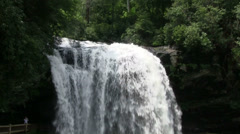 A pretty waterfall in North Carolina. - stock footage