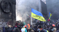 Ukraine, opposition to Hrushevskoho Kiev - stock footage