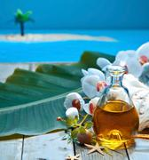 island retreat spa treatment - stock photo