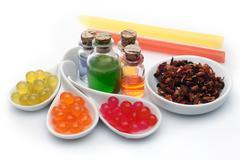 Bubble tea ingredients Stock Photos