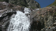 Upward view of a mountain brook. - stock footage