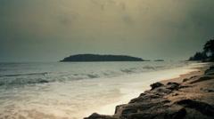 White Sand Tropical Beach Stock Footage