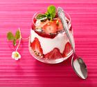 Stock Photo of individual serving of strawberry dessert
